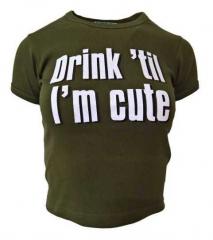 Armee grünes Top  Drink 'Til I'm
