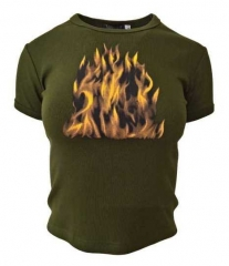 Armee grünes Top  Flamme
