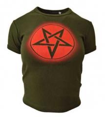 Armee grünes Top  Pentagramm