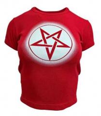 Rotes Top  Pentragramm