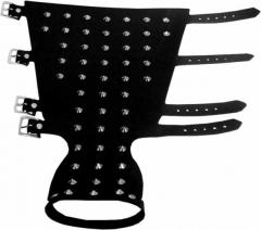 Leather Wristband - 50 Pointed Studs