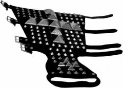 Ledernietenband - 95 Spitznieten & 14 Pyramidennieten