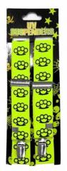 Neon gelber Hosenträger mit Schlagringen