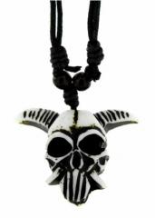 Gothic Halskette mysteriöser Totenkopf