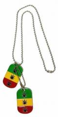 Dog Tag Rasta Cannabis