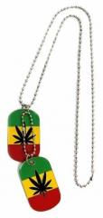 Dog Tag Rasta Hanf Cannabis