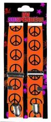 Neonoranger Hosenträger mit Peace-Zeichen
