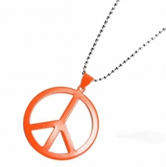 NEK-A 463 - Necklace - Neonorange - Peace
