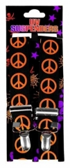 Black Suspender neonorange Peace
