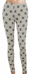 LGL 011 - Leggings - Skulls - Grey