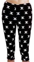 LGS 002 - Leggings - Skulls - Black