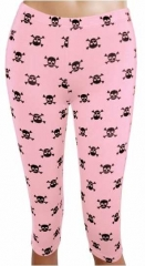 LGS 006 - Leggings - Skulls - Rose