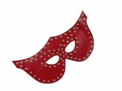 Venezianische Maske - Nieten - Rot