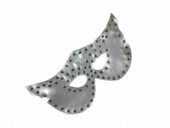 Venezianische Maske - Nieten - Weiß