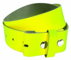 Ledergürtel ohne Schnalle - Neon Gelb