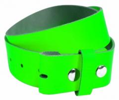 Ledergürtel ohne Schnalle - Neon Grün