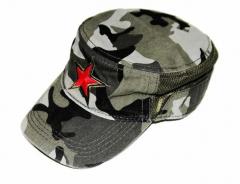 Roter Stern auf Armee Kappe
