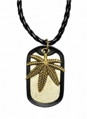 NEK-A 498 - Cool dogtag with  Canabis leaves