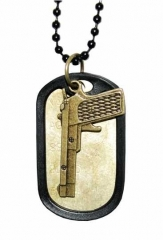 NEK-A 501 - Cool dogtag with a gun