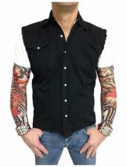 Worker Shirt Uni Schwarz