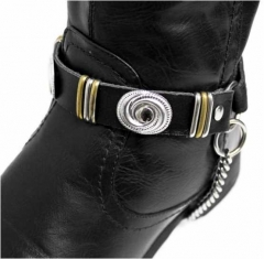 Leather Bootstrap - Concho Studs