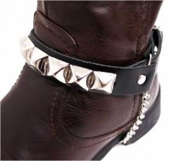 Leder Stiefelbänder - Pyramidennieten