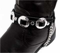 Leather Bootstrap - Conchos Studs