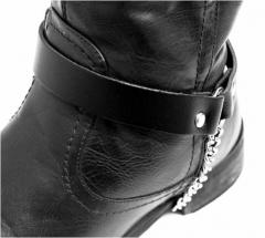 Leder Stiefelbänder - Uni