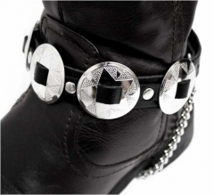 Leather Bootstrap - Conchos
