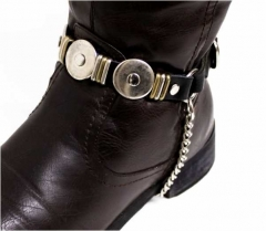 Leather Bootstrap - Flat Studs