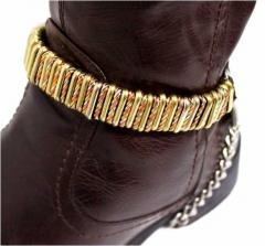 Leder Stiefelbänder - Eisenringe