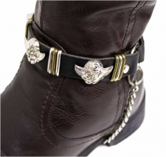 Leather Bootstrap - Angel Studs
