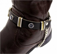 Leder Stiefelbänder - Perlennieten