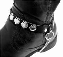 Leather Bootstrap - Apple Studs