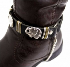 Leather Bootstrap - Elephant Studs