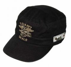 Stern mit Flügeln Schwarze Navy Kappe