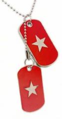 Halskette - Dogtag - Rot - Stern