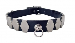 Choker Hexagon Nieten & Ring