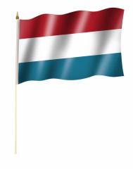 Luxemburg Stockfahnen