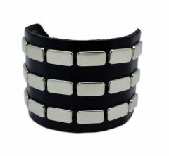 Armband 3 Reihen Flach Nieten