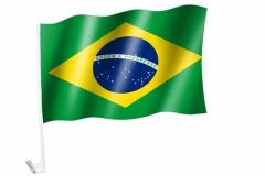Autofahne Brasilien