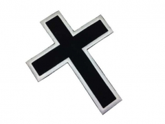 Embroidered Patch - Black Cross