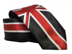 Black tie with Great Britain Flag