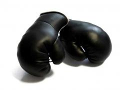 Schwarze Mini Boxhandschuhe