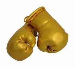 Goldfarbene Mini Boxhandschuhe