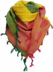 Palästinensertuch - Grün Gelb Orange