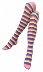 Over Knee Thigh Socks Blue & Yellow Stripes