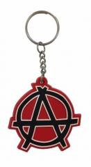 Anarchie Schlüsselanhänger aus Gummi