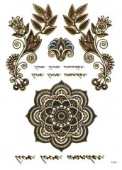 Temporäres Tattoo Set in Gold und Silberfarben