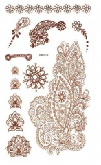 Henna Tattoo Sticker Braun